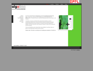 algo.epfl.ch screenshot