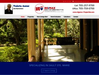 algoma-properties.com screenshot