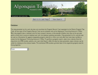 algonquin.northwoodsoft.com screenshot