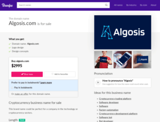 algosis.com screenshot