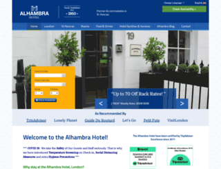alhambrahotel.com screenshot