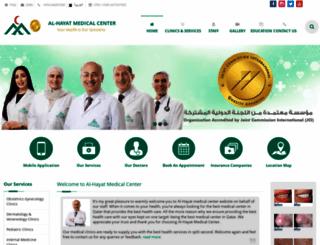 alhayatmedicalcenter.com.qa screenshot