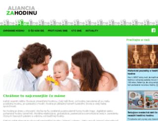 alianciazahodinu.sk screenshot