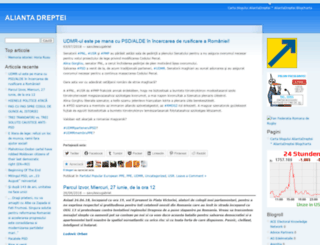 aliantadreptei.wordpress.com screenshot