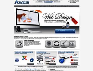 aliantewebdesign.com screenshot