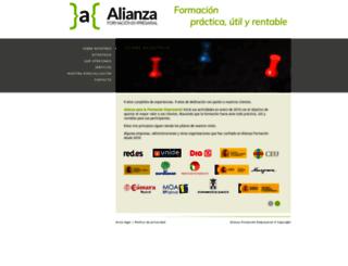 alianzaformacion.com screenshot