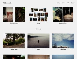alibosworth.com screenshot
