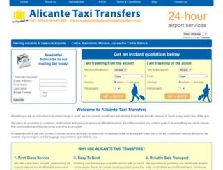 alicantetaxitransfers.com screenshot