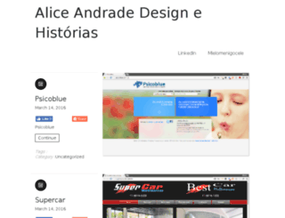 alice.blog.br screenshot