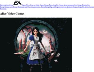 alice.ea.com screenshot