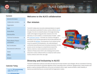 aliceinfo.cern.ch screenshot
