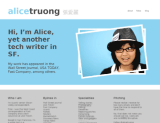 alicetruong.com screenshot
