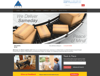 aliedlogistics.com screenshot