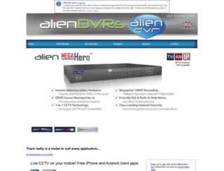 aliendvr.com screenshot