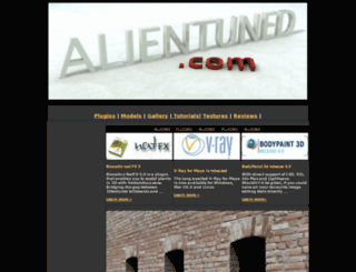 alientuned.com screenshot