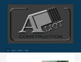 aliotconstruction.com screenshot