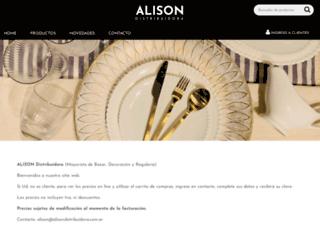 alisondistribuidora.com.ar screenshot