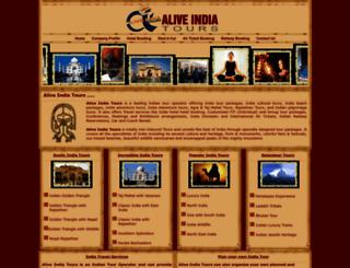 aliveindiatours.com screenshot
