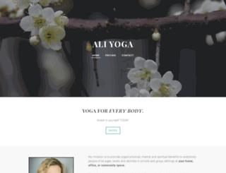 aliyoga.com screenshot