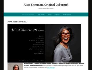 alizasherman.com screenshot