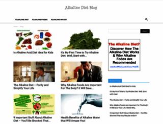 alkalinedietblog.com screenshot