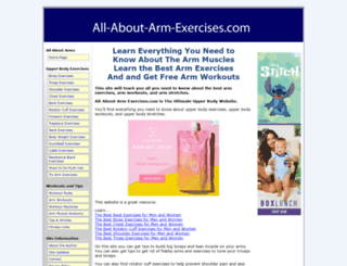 all-about-arm-exercises.com screenshot