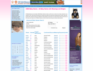 all-babynames.com screenshot