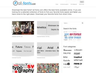 all-fonts.com screenshot