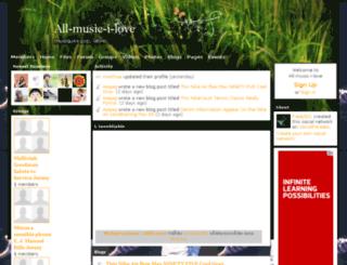 all-music-i-love.socialparadox.com screenshot