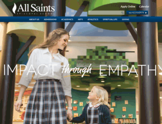all-saints.org screenshot