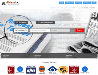 all-tenders.com screenshot
