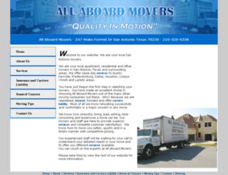 allaboardmovers.com screenshot