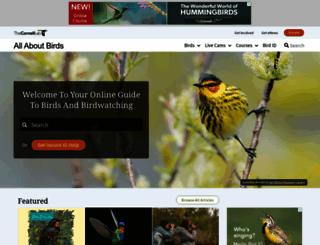 allaboutbirds.org screenshot