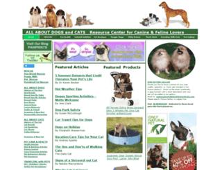 allaboutdogsandcats.com screenshot