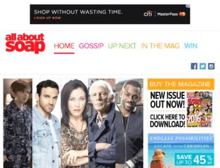 allaboutsoap.co.uk screenshot