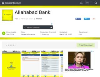 allahabad-bank.droidinformer.org screenshot