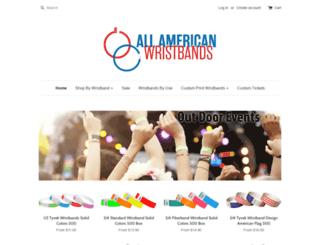 allamericanwristbands.com screenshot