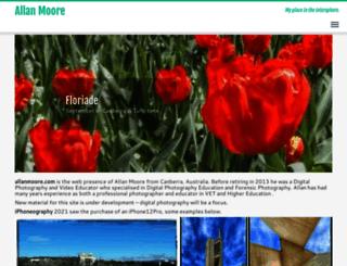 allanmoore.com screenshot