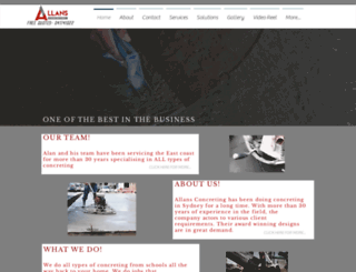 allansconcrete.com.au screenshot