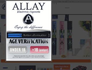 allayecigarette.com screenshot