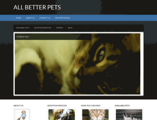 allbetterpets.org screenshot