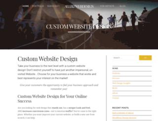 allbizwebdesign.com screenshot