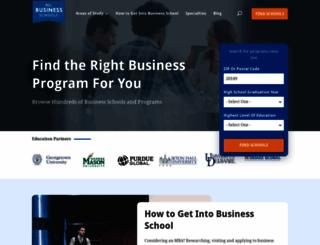 allbusinessschools.com screenshot