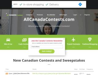 allcanadacontests.com screenshot