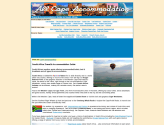 allcapeaccommodation.com screenshot