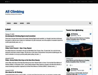 allclimbing.com screenshot