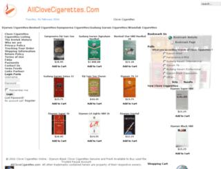 allclovecigarettes.com screenshot