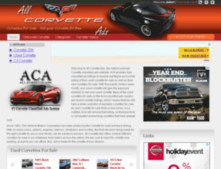 allcorvetteads.com screenshot