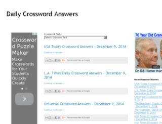 allcrosswordanswers.blogspot.in screenshot