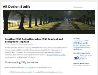 alldesignstuffs.com screenshot